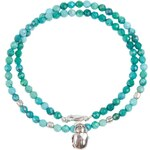 Catherine Michiels Scarab Beetle Beaded Necklace