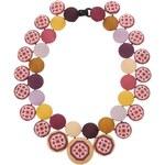 Cecile Bertrand Silk Button Necklace