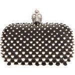 Alexander Mcqueen 'Skull' Pearl Embellished Box Clutch