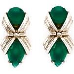 Shaun Leane 'Bound' Green Onyx Earrings