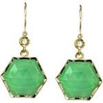 Irene Neuwirth Chrysoprase Hexagon Earrings
