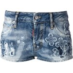 Dsquared2 Embroidered Floral Shorts