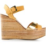 Sergio Rossi Strap Wedge Heels