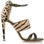 Sergio Rossi Leopard Print Sandals