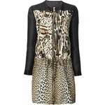 Moncler Gamme Rouge Leopard Print Quilted Coat