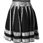 Alexander Mcqueen Snake Jacquard Knit Skirt