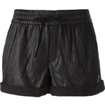 Helmut Lang Washed Leather Tie Shorts