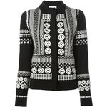 Chloé Aztec Knit Embroidered Cardigan