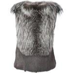 Maison Margiela Sleeveless Fox Fur Sweater