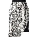 Emanuel Ungaro Zebra Print Skirt