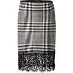 Sacai Houndstooth Print Skirt