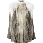 Liska Fur Ribbed Sleeved Coat