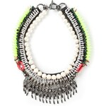 Venna Pearly Spiked Collar