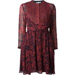 Carven Printed Lace Panel Dress