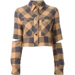 Filles A Papa Cropped Checked Shirt