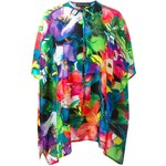 Ralph Lauren Black Floral Print Tunic Top