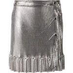 Paco Rabanne Wrap Metallic Skirt