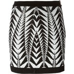 Balmain Chevron Pattern Skirt
