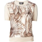 Salvatore Ferragamo Leaf Print Sweater