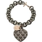 Ops! Objects náramek Matelassé Crystal šedý s růžovými kamínky