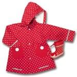 #PLAYSHOES Větrovka do deště s puntíky červen