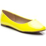 MANNIKA Lakované žluté dámské baleríny - L809Y / S2-24P