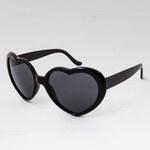 VeyRey Heart - Brýle Srdce - černé 1930
