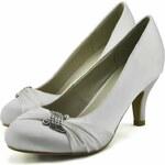 LS fashion LS dámské elegantní saténové lodičky 0132 bílé Velikost: EUR 41