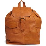 Pull&Bear Patchwork Backpack in Tan