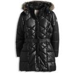 Esprit Vatovaný nylonový prošívaný kabát, kapuce