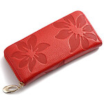 LightInTheBox Mega Floral Print Leather Wallet(Red)