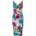 Modro-fuchsiové šaty Tropical Cocktail L