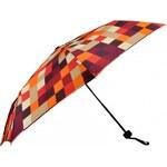 S.Oliver Dámský skládací mechanický deštník Enjoy Modern Chess Colour Desert 70803SO16-3