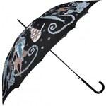 Doppler Dámský holový vystřelovací deštník Cat Art 740865CA