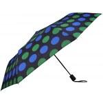 Doppler Dámský skládací vystřelovací deštník Derby Colour Drops - modrý 72065PD16-2