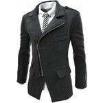 Pánský kabát Evolge tmavě šedý AKCE - šedá