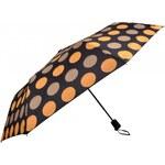Doppler Dámský skládací vystřelovací deštník Derby Colour Drops - hnědý 72065PD16-1