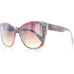 Červeno-béžovo-modré sluneční brýle Japan