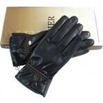 Ostatní Dámské černé kožené rukavice Pier PR90128 M