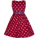 Lindy Bop Mini Audrey Red Polka 5,6