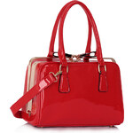 LS fashion LS dámská kabelka lakovaná 311A červená