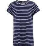 Bílo-modré pruhované volné delší triko Noisy May Sail