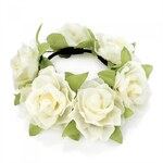 Krémová gumička do vlasů Flowers 29148