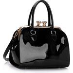 LS fashion LS dámská kabelka s kovovým rámem LS00378 černá