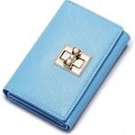 NUCELLE dámská kožená peněženka modrá
