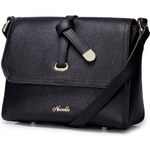 NUCELLE dámská kožená kabelka Sweet messenger černá