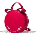 NUCELLE kožená kabelka Sweet Girl červená