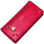 NUCELLE dámská kožená peněženka červená