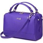 Nucelle kožená kabelka Lady Love fialová