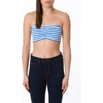 Tally Weijl Blue & White Striped Bandeau Top
